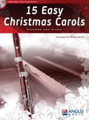 15 easy Christmas Carols (+CD) for bassoon and piano