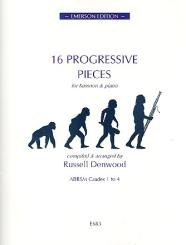 16 progressive Pieces for bassoon and piano