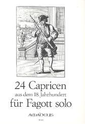 24 Capricen aus dem 18. Jahrhundert für Fagott