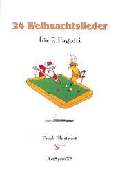 24 Weihnachtslieder (+CD) für 2 Fagotti, Spielpartitur