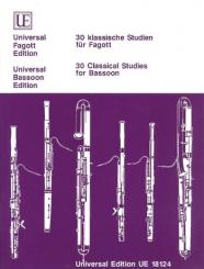 30 klassische Studien für Fagott
