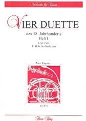 4 Duette des 18. Jahrhunderts Band 1 für 2 Fagotte, Partitur und Stimmen