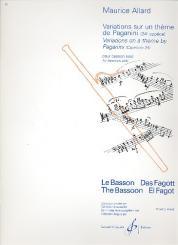 Allard, Maurice: Variations sur un thème de Paganini pour basson seul
