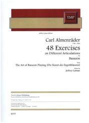 Almenräder, Carl: 48 Exercises on Different Articulations for basson