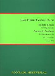 Bach, Carl Philipp Emanuel: Sonate d-Moll Wq132 (H562) für Fagott