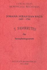 Bach, Johann Sebastian: 7 Favourites für 4 Saxophone (SATB) Partitur und Stimmen