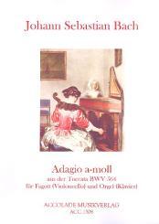 Bach, Johann Sebastian: Adagio a-Moll BWV564 für Fagott (Violoncello) und Orgel (Klavier)
