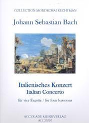 Bach, Johann Sebastian: Italienisches Konzert BWV971 für 4 Fagotte, Partitur und Stimmen