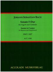 Bach, Johann Sebastian: Sonate F-Dur BWV1027 für Fagott und Klavier