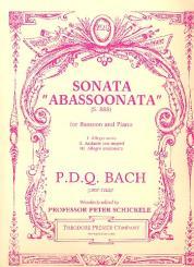 Bach, P.D.Q. alias Schickele, Peter: Sonata Abassoonata for bassoon and piano