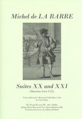 Barre, Michel de la: Suites 20 and 21 for 2 bassoons cellos/bass viols), 2 scores