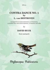Beethoven, Ludwig van: Contra Dance no.1 for 2 contra-bassoons (double basses/contra-bassoon and double bass), 2 scores