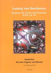 Beethoven, Ludwig van: Romanze G-Dur op.40 für Violine und Orchester für 2 Fagotte und Klavier