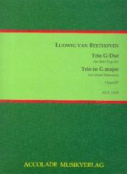 Beethoven, Ludwig van: Trio G-Dur op.87 für 3 Fagotte, Partitur und Stimmen