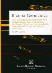 Bicinia Germanica für 2 Fagotte