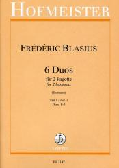 Blasius, Matthieu-Frederic: 6 Duos Band 1 (Nr.1-3) für 2 Fagotte