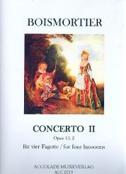Boismortier, Joseph Bodin de: Concerto c-Moll op.15,2 für 4 Fagotte Partitur und Stimmen