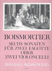 Boismortier, Joseph Bodin de: 6 Sonaten op.14 für 2 Fagotte (Violoncelli), Spielpartitur