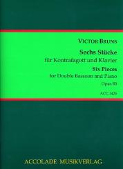 Bruns, Victor: 6 Stücke op.80 für Kontrafagott und Klavier