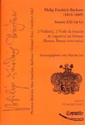 Buchner, Philipp Friedrich: Plectrum musicum op.4 Band 11 für 2 Violinen, 2 Violen, Fagott und Bc, Partitur und Stimmen