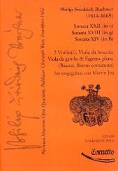 Buchner, Philipp Friedrich: Plectrum musicum op.4 Band 12 für 2 Violinen, Viola, Viola da gamba, Fagott und Bc, Partitur und Stimmen
