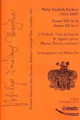 Buchner, Philipp Friedrich: Plectrum musicum op.4 Band 10 für 2 Violinen, Viola, Fagott und Bc, Partitur und Stimmen