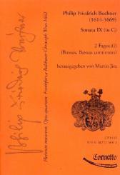 Buchner, Philipp Friedrich: Plectrum musicum op.4 Band 5 für 2 Fagotte und Bc, Partitur und Stimmen