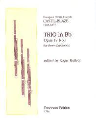 Castil-Blaze, Francois Henri Joseph: Trio B-Dur op.17,1 für 3 Fagotte, Stimmen, Hellyer, R., ed
