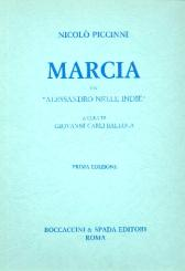 Cimarosa, Domenico: Marcia da Alessandro nelle Indie für 2 Oboen, 2 Klarinetten, 2 Hörner und 2 Fagotte, Partitur