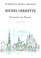 Corrette, Michel: Concerto Le Phénix for 4 bassoons (cellos, viols) and bc