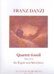 Danzi, Franz: Quartett d-Moll op.40,2 für Fagott, Violine, Viola und Violoncello, Partitur und Stimmen