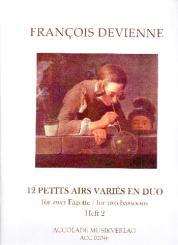 Devienne, Francois: 12 petits airs variés en duo Band 2 (Nr.7-12) für 2 Fagotte, Partitur und Stimmen
