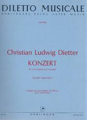 Dietter, Christian Ludwig: Konzert für 2 Fagotte und Orchester für 2 Fagott und Klavier
