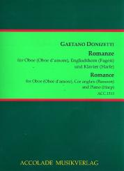 Donizetti, Gaetano: Una furtiva lagrima für Oboe (Oboe d'amore), Englischhorn (Fagott) und Klavier (Harfe), Stimmen