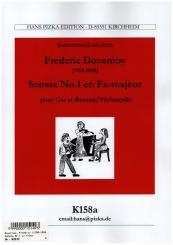 Duvernoy, Jean Baptiste: Sonate F-Dur Nr.1 für Horn und Fagott (Violoncello), Partitur und Stimmen