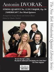 Dvorák, Antonín: String Quartet in E Major no.12 for flute, oboe, clarinet, horn and bassoon, score and parts