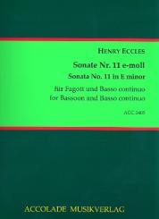 Eccles, Henry: Sonate e-Moll Nr.11 für Fagott und Bc