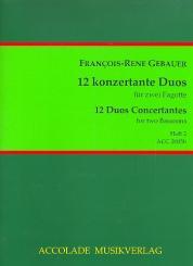 Gébauer, Francois-Réné: 12 duos concertants op.44 Band 2 (Nr.4-6) für 2 Fagotte, Partitur und Stimmen