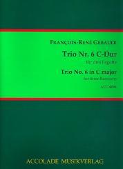 Gébauer, Francois-Réné: Trio C-Dur Nr.6 für 3 Fagotte, Partitur und Stimmen