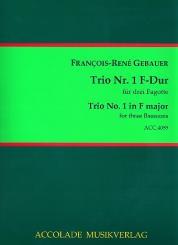 Gébauer, Francois-Réné: Trio F-Dur Nr.1 für 3 Fagotte Partitur und Stimmen