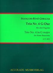 Gébauer, Francois-Réné: Trio G-Dur Nr.4 für 3 Fagotte, Partitur und Stimmen