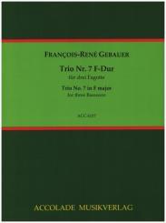 Gébauer, Francois-Réné: Trio F-Dur Nr.7 für 3 Fagotte, Partitur und Stimmen