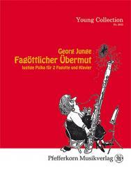 Junge, Georg: Fagöttlicher Übermut für 2 Fagotte und Klavier, Partitur und Stimmen