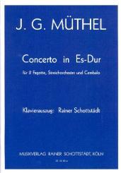 Müthel, Johann Gottfried: Konzert Es-Dur für 2 Fagotte, Streichorchester und Cembalo für 2 Fagotte und Klavier, Partitur und Stimmen
