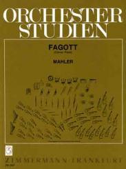 Mahler, Gustav: Orchesterstudien Fagott Sinfonien und Das Lied von der, Erde