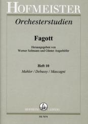 Orchesterstudien für Fagott Band 10 Mahler, Debussy, Mascagni