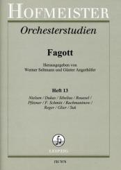 Orchesterstudien für Fagott Band 13