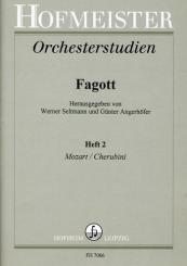 Orchesterstudien für Fagott Band 2 Mozart und Cherubini