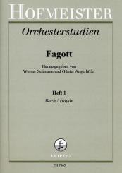 Orchesterstudien Fagott Band 1 Bach und Haydn