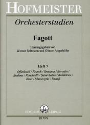 Orchesterstudien Fagott Band 7